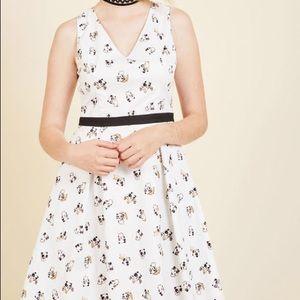ModCloth Yellow Star Panda Panache dress